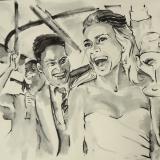 bruiloft 6 - tekening naar foto 1