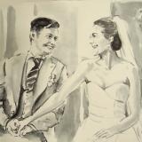 bruiloft 7 - tekening naar foto 2