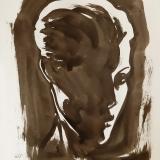 donker portret