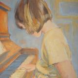 meisje aan piano