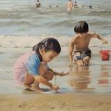 verkocht - strandkinderen