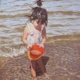meisje-aan-zee