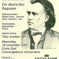 affiche Concertgebouw 1 - concert Joh Brahms