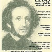 affiche Concertgebouw 3 - concert Mendelssohn