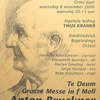 affiche Concertgebouw 4 - concert Bruckner
