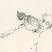 affiche ouderen 3 - gewassen inkt-tekening